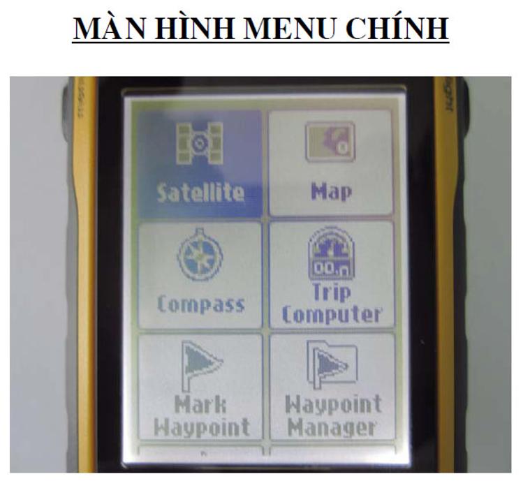 màn hình menu etrex garmin