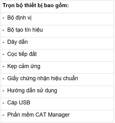may do cap ngam CAT4