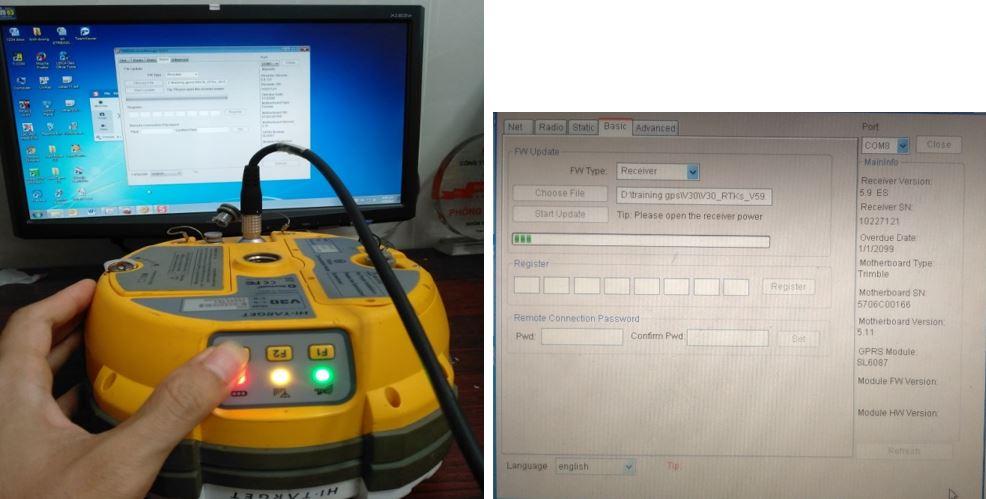 Cap nhat Firmware cho may dinh vi ve tinh Hi-Target V30