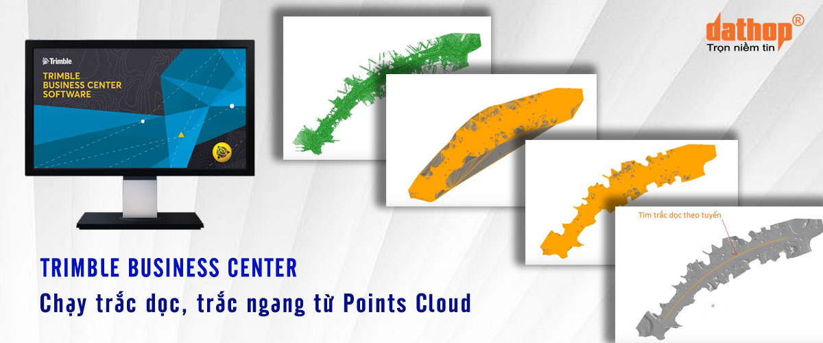 Trimble Business Center chay trac doc, trac ngang