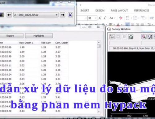Video – Hướng dẫn xử lý dữ liệu đo sâu một tần số bằng phần mềm Hypack