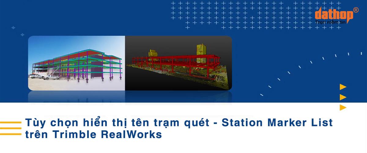 Tuy chon hien thi ten tram quet tren Trimble RealWorks