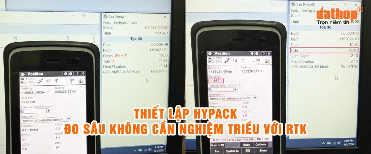 Thiet lap Hypack - Do sau khong can nghiem trieu voi RTK