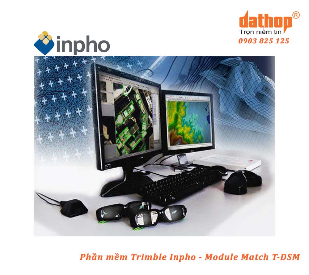 Trimble Inpho là bộ phần mềm xử lý và chuyển đổi dữ liệu ảnh hàng không