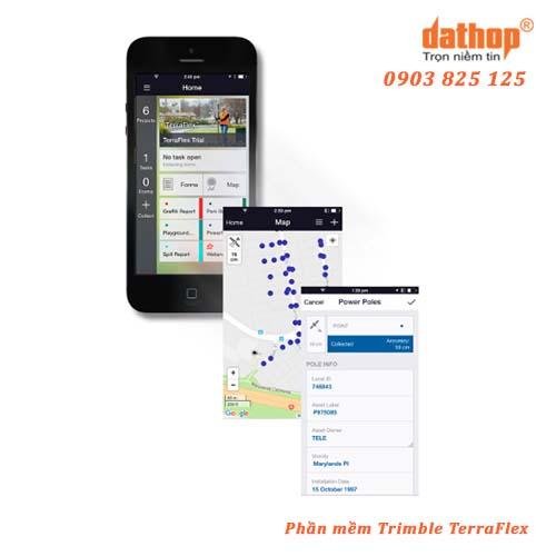 Trimble TerraFlex là phần mềm khảo sát hiện trường