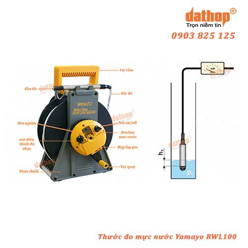 Thước đo mực nước hố giếng khoan Yamayo RWL100