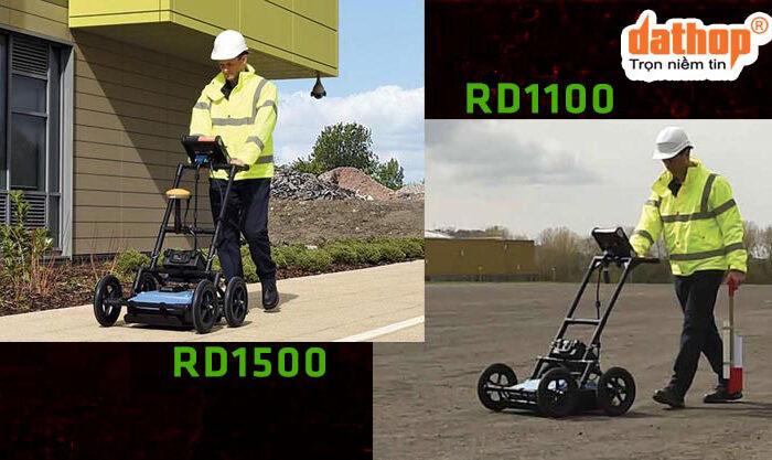 Thiet bi Radar xuyen dat RD1100 va RD1500