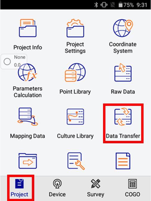 Hướng dẫn Xuất – Nhập dữ liệu trên Hi-Survey Road