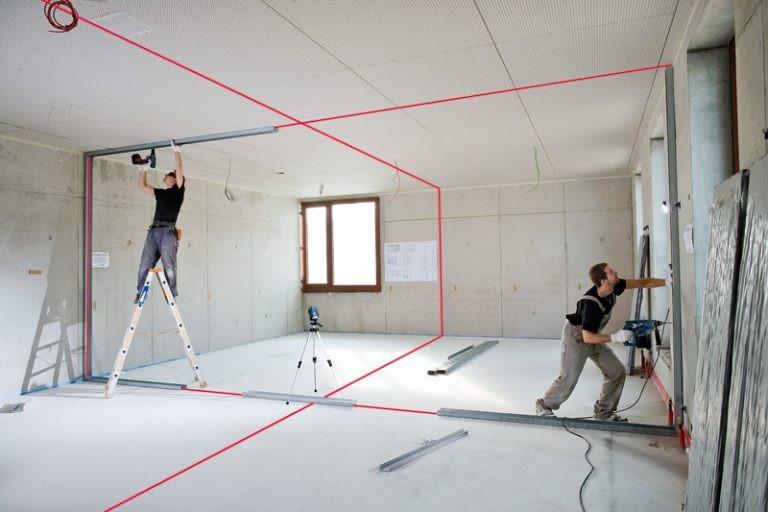 Máy cân bằng laser được dùng trong xây dựng, thiết kế