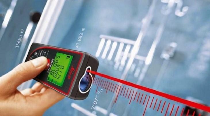 Máy đo khoảng cách là thiết bị được dùng phổ biến trong xây dựng và cả trong gia đình