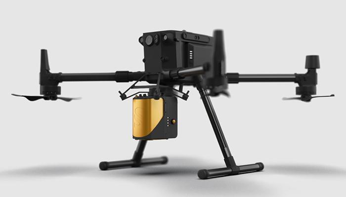 DJI Matrice 300 Pro UAV với YellowScan Mapper qua cổng DJI skyport