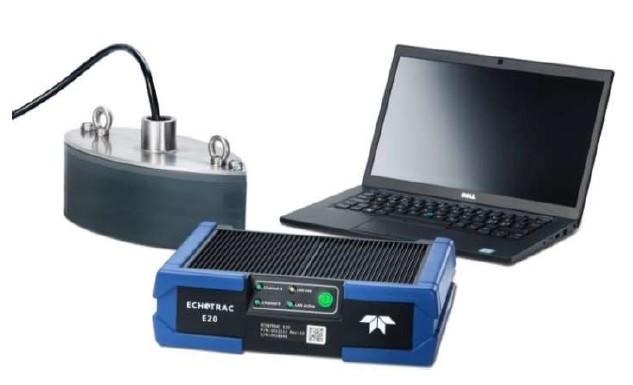 Kết nối máy đo sâu echotrac e20