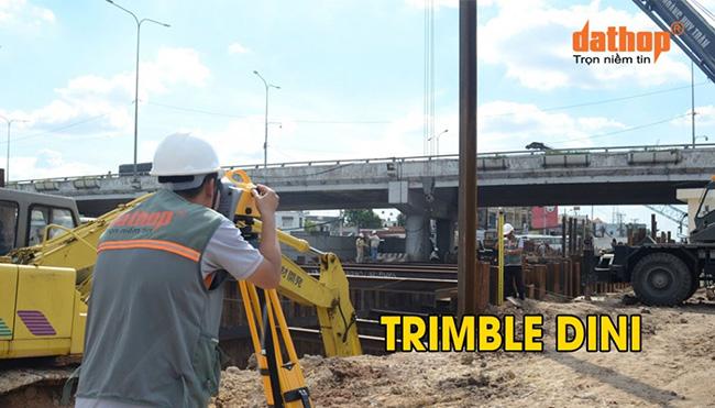 Thao tác nhanh chóng với Máy thủy bình điện tử Trimble Dini