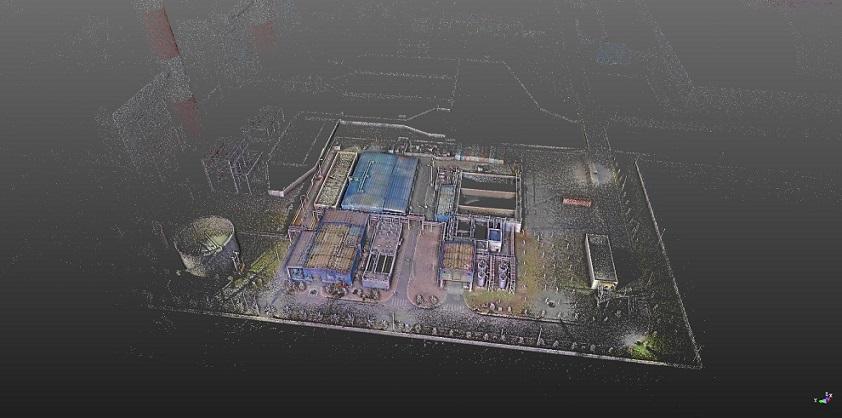 Hình ảnh dữ liệu đám mây điểm khu xử lý nước và khu xử lý nước thải