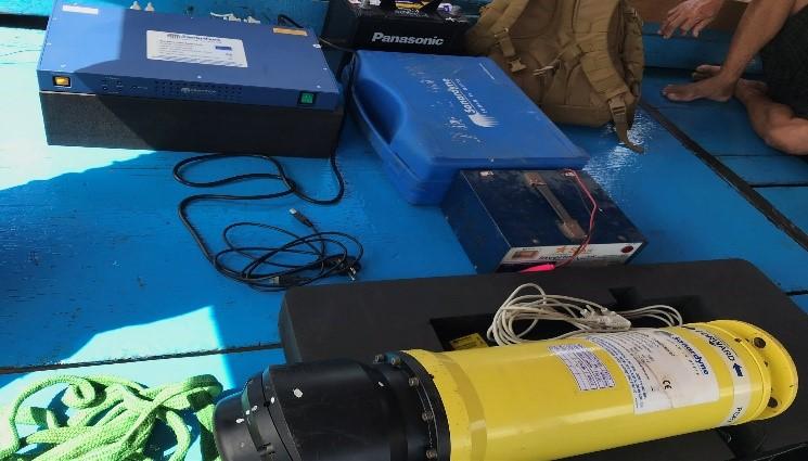Công nghệ định vị thủy âm USBL được sử dụng ngoài thực địa