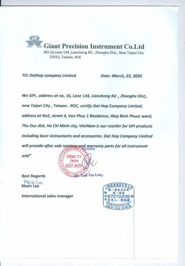 Đất Hợp hiện đang là đại diện phân phối chính thức của thương hiệu GPI tại Việt Nam