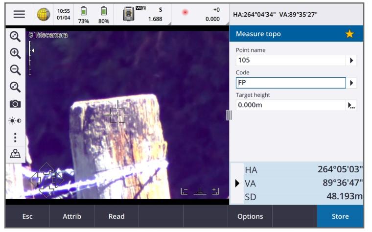 Giao diện màn hình đo điểm chi tiết